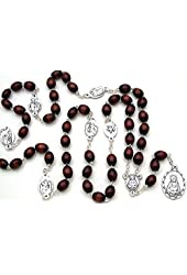 Seven Sorrows of Mary Wooden Beads Rosary Chaplet