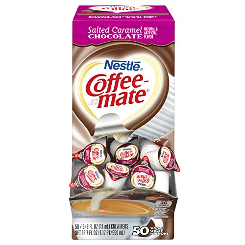 Nestle Coffee-mate Coffee Creamer, Salted Caramel Chocolate, liquid creamer singles, 50 count