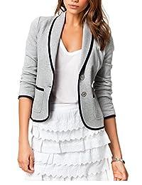 Women's Elegant Patchwork Open Front Jackets