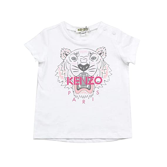 c42e535e Amazon.com: Kenzo Kids Baby Girl's Printed Tiger Graphic Tee (Infant) White  9 Months: Clothing