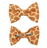 Boys Giraffe Print Clip On Cotton Bow Tie Bowtie by amy2004marie