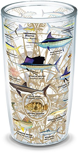 Tervis 1292233 Guy Harvey - Charts Tumbler with Wrap, 16oz, Clear
