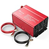 1000W Inverter, Power Inverter DC 12V to 110V AC Car Converter with 3 AC Outlets & 2.4A Dual USB Charging Ports