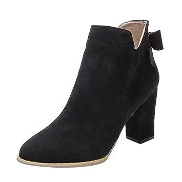 f67d73a53b1f4 Casual zapatos de tacón alto de mujer,Sonnena Botas de arco con punta en  punta de mujer Botines de tacón alto con cremallera  Amazon.es  Hogar