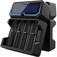 18650 batterijlader XTAR X4 2A snel AC vermogen batterij oplader 2 ingangspoorten LCD-display met power bank-functie…