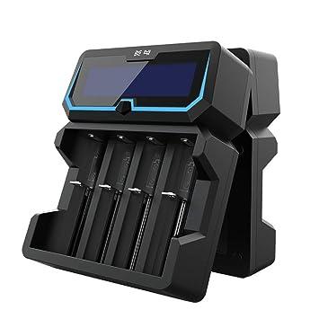 Xtar X4 18650 - Cargador de batería de 2 A de alta potencia ...