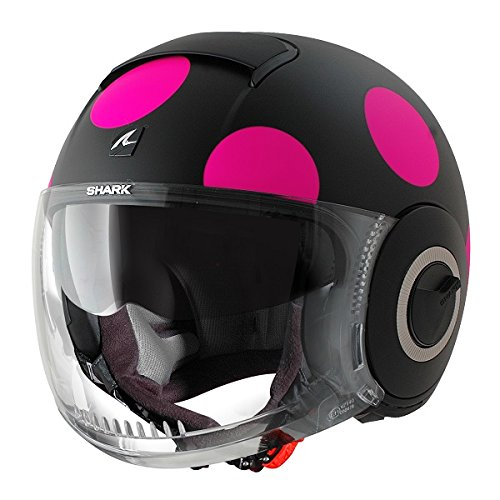 Nano Coxy de tiburón casco de diseño con cara al descubierto personalizado de punto de cruz Cruiser para Moto y casco de: Amazon.es: Coche y moto