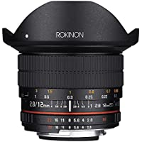 Rokinon 12mm F2.8 Ultra Wide Fisheye Lens for Nikon AE DSLR Cameras - Full Frame Compatible (Certified Refurbished)