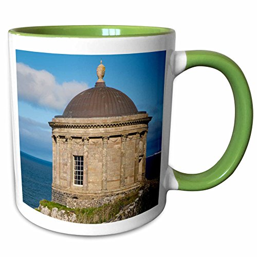 3dRose Danita Delimont - Northern Ireland - Mussenden Temple near Castlerock, County Londonderry, Northern Ireland - 11oz Two-Tone Green Mug - Castlerock Outlet