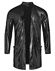 Men's Sequin Metallic Shiny Cardigan