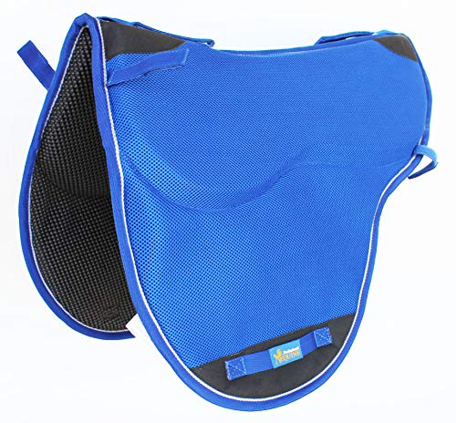 TackRus Horse Western English Endurance Treeless Nonslip Neoprene Saddle Pad Blue 6405BL