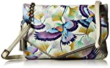 Anuschka Handpainted Leather Convertible Envelope Clutch Wristlet, Wings Off Hope