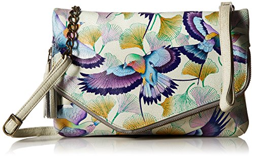 Wings Handpainted Anuschka Convertible Off Japanese Clutch Hope Wristlet Leather Garden xH60d0qUwv