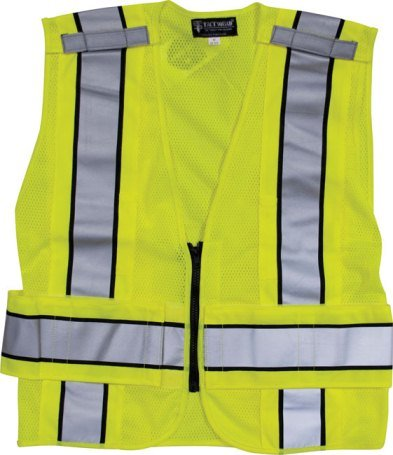 - Plain Reflective Traffic Safety Vest - No Markings - ANSI 207-2006 Compliant - 3XL - 4XL