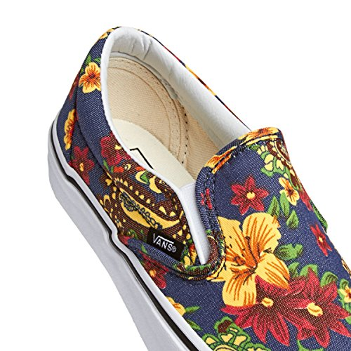 Zapatillas Vans Slip-On Flores Azul