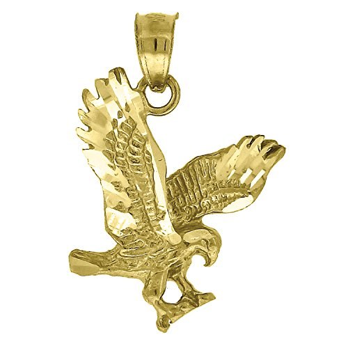 Jewels By Lux 10kt Yellow Gold Womens Mens Unisex Animal Eagle Wings Fashion Charm Pendant