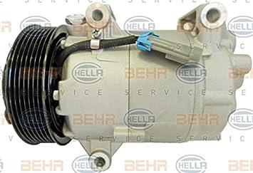 BEHR HELLA SERVICE 8FK 351 135-841 Compresor, aire acondicionado: Amazon.es: Coche y moto