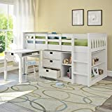 CorLiving BMG-310-B Madison Loft Bed with Desk and Storage, Single/Twin, Snow White