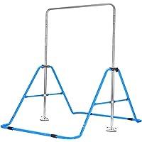 Genki Horizontal Gymnastics Bar for Kids Height Adjustable Training Kip Bar Blue