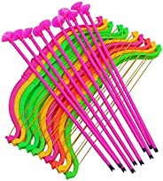 NUOBESTY 20 pcs Durable Safe Plastic Hunting Series Toy Bow and Arrow Set with Suction Cups for Home Party Fav