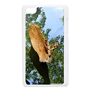 perfect deer Ipod Touch 4 Case, Girl Design Case Ipod Touch 4g Case Hard Tyquin {White}