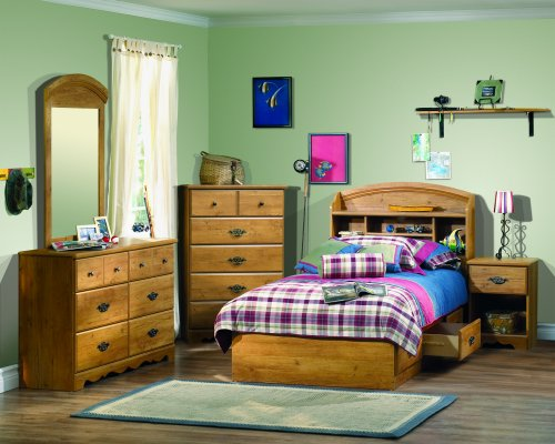 Prairie Collection Twin Storage Bed Country Pine finish