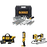 DEWALT Tool Set with Compact Drill Driver Kit, LED Area Light and Grease Gun