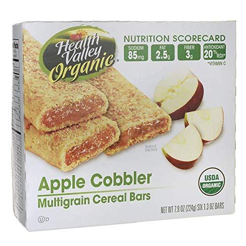 - Health Valley Organic Cereal Bars Apple Cobbler - 6 Bars