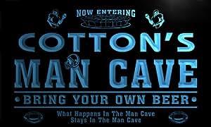qa1856-b Cotton's Man Cave Football Game Room Bar Neon Beer Sign