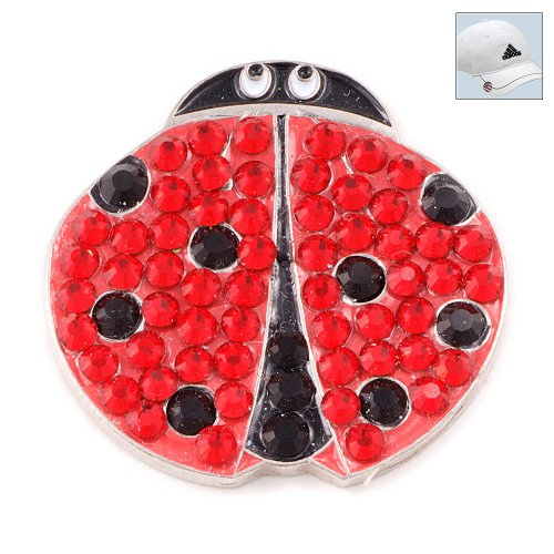 Bonjoc Swarovski Crystal Golf Ball Marker & Hat Clip - Ladybug ()