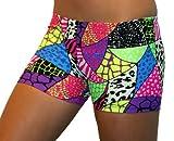 Jungle Safari Spandex Shorts (2.5 In. Adult XXL 16-18, Jungle Safari)
