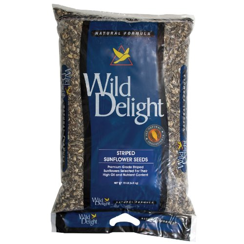Wild Delight 363150 Striped Sunflower Seed, 15 lb - Large Striped Sunflower Seeds