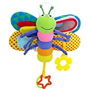 Naovio Baby Crib Rattle Toy Plush Butterfly Bed Stroller Car Hanging Toy Developmental Toy