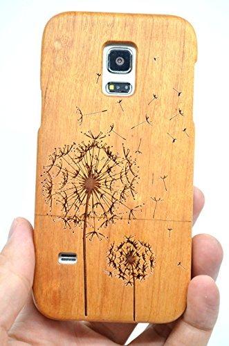 5 opinioni per RoseFlower® Samsung Galaxy S5 mini Legno Custodia- Dente di leone legno