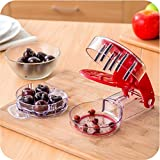 Olive & Cherry Pitter - Multiple Fruit Remover Tool Pit and Juice Container - 6 Cherries Lightweight Stoner