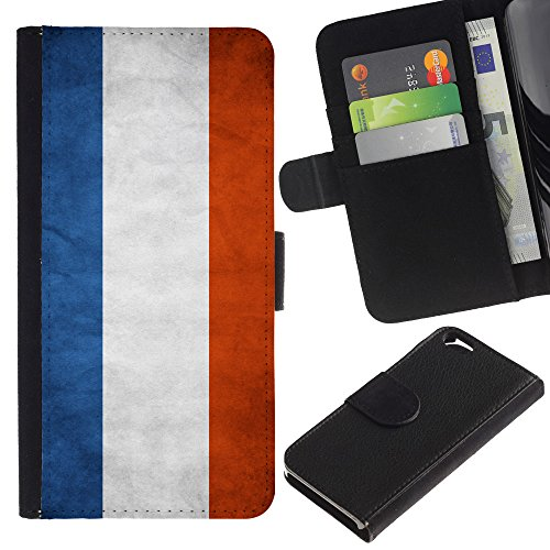 EuroCase - Apple Iphone 6 4.7 - Netherlands Grunge Flag - Cuir PU Coverture Shell Armure Coque Coq Cas Etui Housse Case Cover