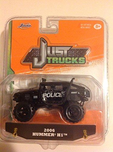 Hummer H1 (Jada 1:64 Just Trucks 2006 Hummer H1 Black #082)