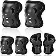 Kids Protective Gear Set Knee Pads Elbow Pads Wrist Guards 3 in 1 Safety Pads Set for Kids for Cycling Skating