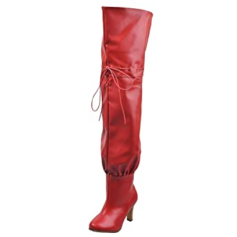 Women Ladies Over The Knee High Western Stretchy Back Stiletto Heel Boots Size 5