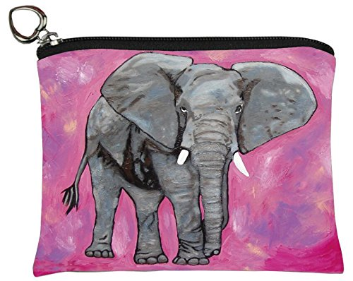 Elephant Change Purse, Elephants Coin Purse - From My Original Painting, Kelly