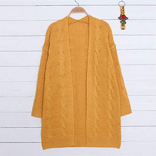 Lavorato Grandi Mazf Maglia Femminile Yellow A Di Pipistrello Maglione Cardigan Dimensioni YYqAE