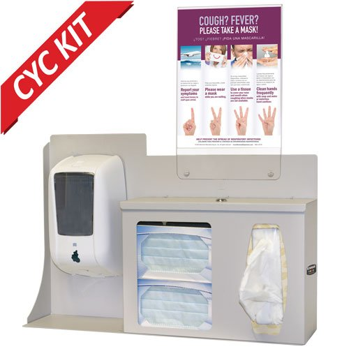 BOWMAN BD205-0012 Cover Your Cough Compliance Kit, 24.42'' Height, 22.25'' Width, 5'' Length by BOWMAN (Image #3)
