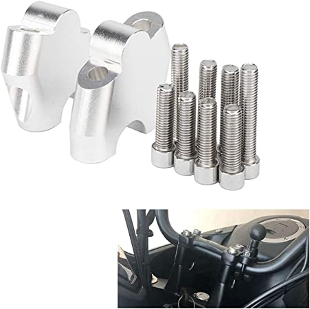 Motorcycle Lifter Motorcycle Riser with 2 Clamps and Screws Fits for H O N D A NC700X NC700S NC750X NC750S CB500F CB500X Motorcycle Handlebar Riser