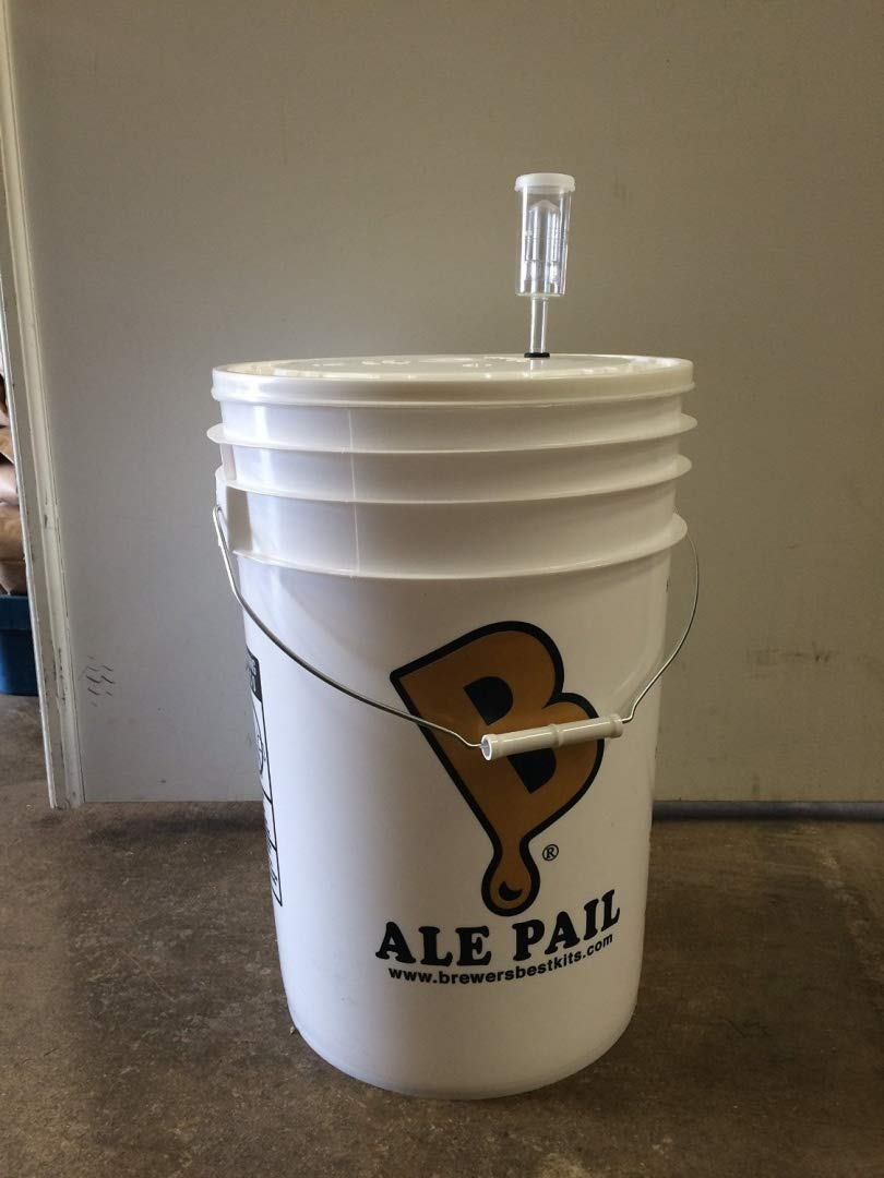 6.5 Gallon Fermenting Bucket with Grommeted Lid and 3-piece Airlock by Chicago Brew Werks
