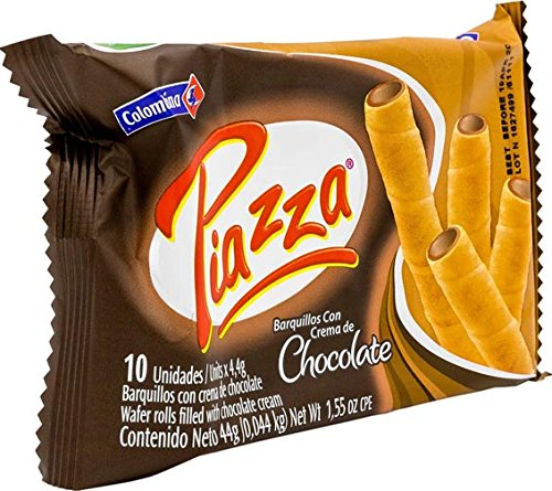 - Colombina Piazza Wafer Roll Chocolate, 1.55 Ounce (Pack of 36)