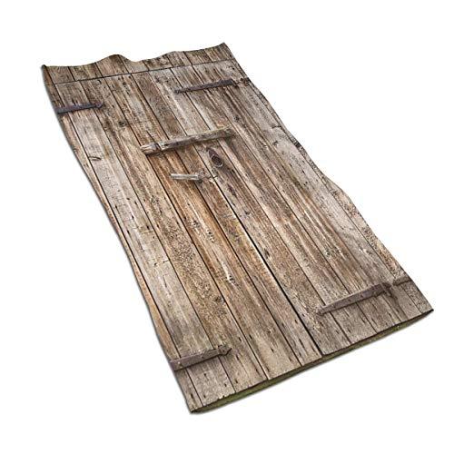 OBILITDREAM Old Oak Closed Garage Door Face Towel,Hand Towel,Kitchen Towels-Dish 3D Design Pattern Towel,Towels for The Kitchen,Cleaning,Cooking,Baking - Carved Blanket Oak