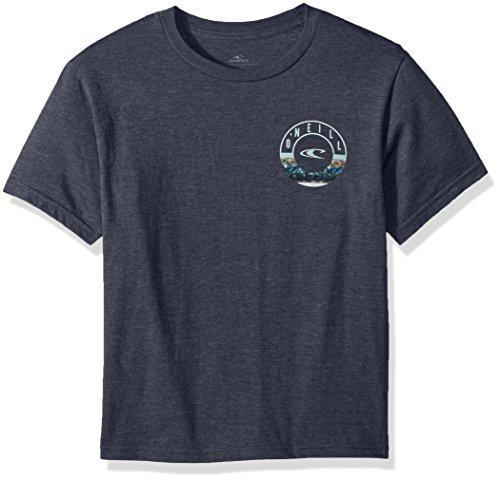 O'Neill Big Boys Front and Back Logo Short Sleeve TEE, Fillmore Navy Heather, ()
