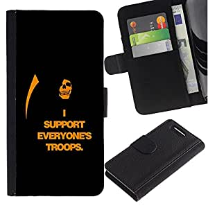 All Phone Most Case / Oferta Especial Cáscara Funda de cuero Monedero Cubierta de proteccion Caso / Wallet Case for Sony Xperia Z1 Compact D5503 // I Support Everyone's Troops