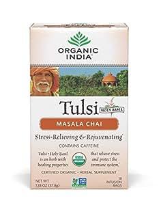 Organic India Tulsi Tea Chai Masala, 25 Count
