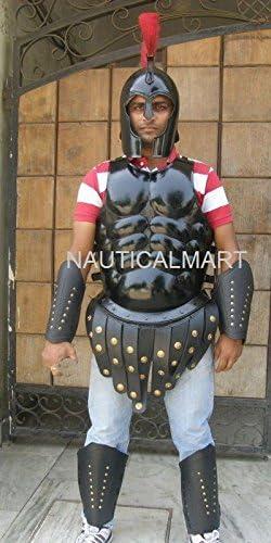NauticalMart - Armadura musculosa romana con casco espartano griego: Amazon.es: Deportes y aire libre